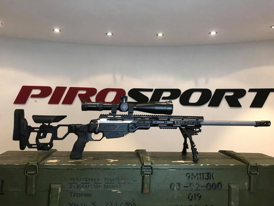 Tikka t3x met custom PIRO Precision Lothar Walther loop in 6.5x55SE en CADEX chassis systeem